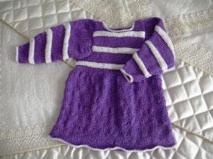 Вяжем детям. Детское вязаное платье
