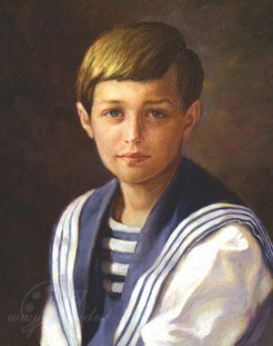 Портрет цесаревича Алексея Николаевича Романова,сына Российского императора Николая II