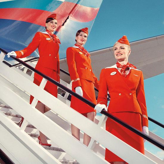 Стюардессы «Аэрофлота» в новой форме